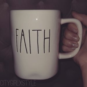 NWT RAE DUNN RETIRED FAITH MUG